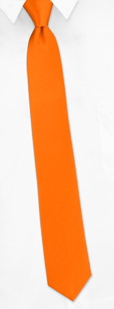 Orange Tie - Orange Dream By Elite Solid Orange Silk Boys Ties