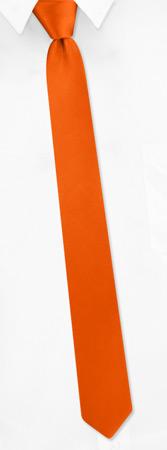 Orange Tie - Burnt Orange By Elite Orange Silk Boys Ties