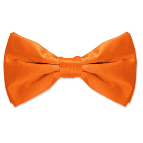 Orange Tuxedos - Orange Dream By Elite Solid Orange Silk Pretied Bowties