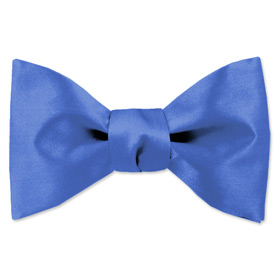 Blue Tuxedos - Cornflower Blue By Elite Solid Blue Silk Freestyle Bowties