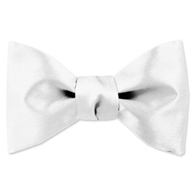 Wedding Tuxedo - Wedding Day White By Elite Solid White Silk Freestyle Bowties