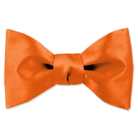 Orange Tuxedos - Orange Dream By Elite Solid Orange Silk Freestyle Bowties