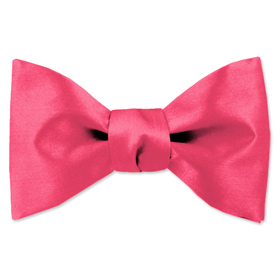 Hot Pink Freestyle Bowtie by Elite Solid - Pink Silk