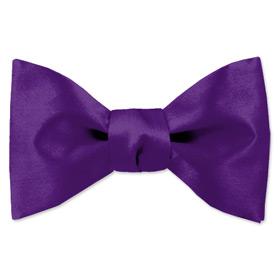 Purple Tuxedo - Royal Purple By Elite Solid Purple Silk Freestyle Bowties
