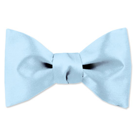 Blue Tuxedos - Sky Blue By Elite Solid Blue Silk Freestyle Bowties