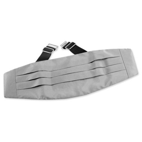 Wedding Handkerchief - Wedding Silver By Elite Solid Silver Silk Cummerbunds