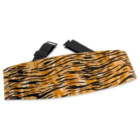 Orange Tie - Tiger Print By Wild Ties Orange Silk Cummerbunds