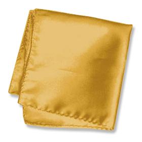 "Silk Handkerchief - Rich Gold 16"" By Elite Solid Gold Silk Pocket Squares"