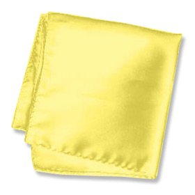"Yellow Handkerchief - Sunshine Yellow 16"" By Elite Solid Yellow Silk Pocket Squares"
