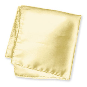 "Yellow Handkerchief - Butter Yellow 16"" By Elite Solid Yellow Silk Pocket Squares"