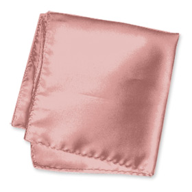 "Bridal Handkerchief - Bridal Rose 16"" By Elite Solid Pink Silk Pocket Squares"