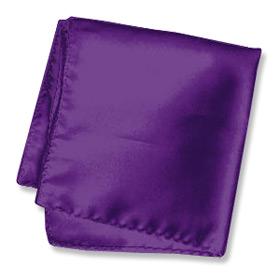"Silk Handkerchief - Royal Purple 16"" By Elite Solid Purple Silk Pocket Squares"