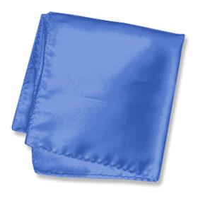 Pocket Handkerchief - Cadet Blue By Elite Solid Blue Silk Pocket Squares