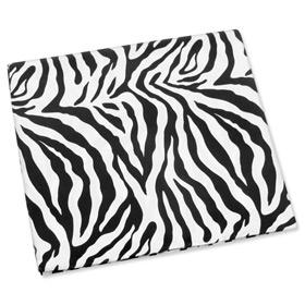 "Silk Handkerchief - Zebra Print 16"" By Wild Ties Black Silk Pocket Squares"