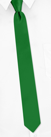 Christmas Green Narrow Tie by Elite Solid - Green Silk