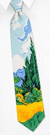 Yellow Wheat - Van Gogh by Wild Ties multicolor silk ties