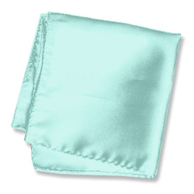 "Ties And Scarves - Sea Breeze Green 16"" By Wild Ties Seafoam Green Silk Pocket Squares"