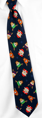 South Park Ties - Holiday Boys Of South Park By South Park Navy Blue Polyester Ties