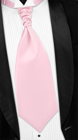Pink Tuxedo - Pink Solid Satin By Umo Lorenzo Pink Silk Cravats