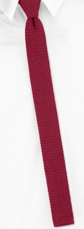 Narrow Ties - Crimson Red Skinny (cotton) By Orsini Red Cotton Knit Narrow Ties