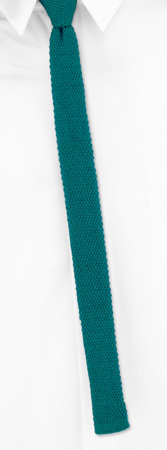 Skinny Ties - Green X-Skinny By Orsini Green Wool Knit Narrow Ties
