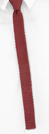 Skinny Ties - Mauve Yarn Skinny By Orsini Mauve Cotton Knit Narrow Ties