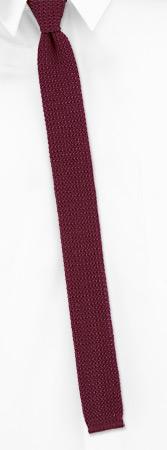 Knit Ties - Salerno By Orsini Burgundy Cotton Knit Boys Ties
