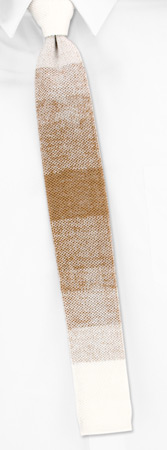 Knit Ties - Sayles Striped II By Orsini White Cotton Knit Ties