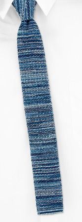Knit Ties - Toscana By Stafford Blue Cotton Knit Ties