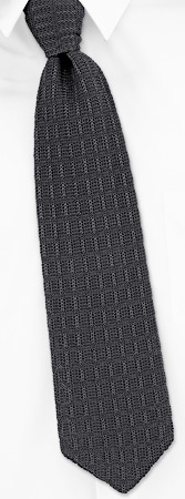 Knit Ties - Marcellus By Orsini Silver Cotton Knit Ties