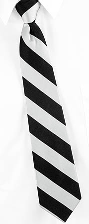 Zipper Ties - Silver & Black By Umo Lorenzo Silver Polyester 17inch Zipper Ties