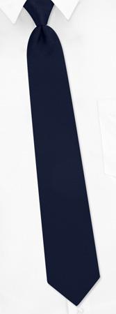 Zipper Ties - Solid Navy By Umo Lorenzo Navy Blue Polyester Zipper Ties