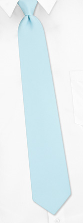 Zipper Ties - Solid Light Blue By Umo Lorenzo Blue Polyester Zipper Ties