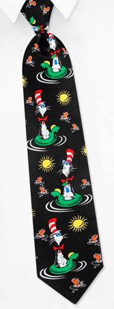 The Cat In The Hat - Cat In The Hat Fun In The Sun By Dr Seuss Black Silk Ties