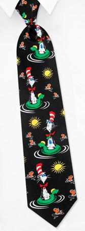 Sun Hats - Cat In The Hat Fun In The Sun By Dr Seuss Black Silk Ties