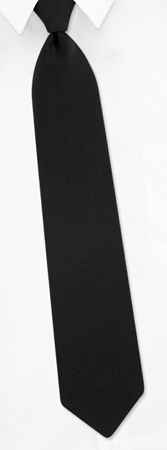 Wedding And Accessories - Solid Black Zip-Up By Necktie Accessories Black Polyester Zipper Ties