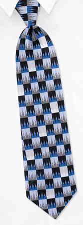 Tie Lake - Salt Lake City Temple By Inspire Neckwear Blue Silk Ties