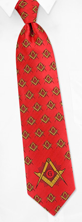 Mason - Master by The American Necktie Co red microfiber ties