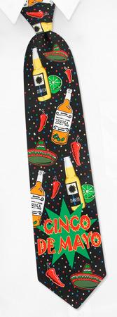 Cinco de Mayo Tie by Wild Ties -  Black Microfiber