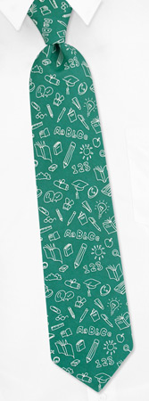 School Ties - School Board By The American Necktie Co Green Microfiber Ties