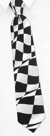 Tie A Necktie - Check Racing Flag By The American Necktie Co White Microfiber Ties