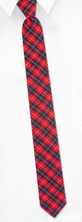 Narrow Ties - Prep Plaid By The American Necktie Co Red Microfiber Narrow Ties