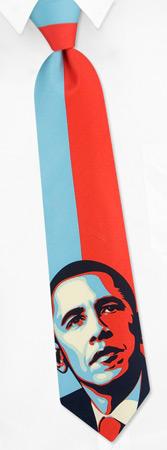 Barack Obama by The American Necktie Co multicolor microfiber extra long ties