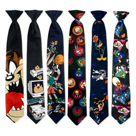 Novelty Ties - 6 Assorted 11inch Boys Novelty Clipons By Necktie Accessories Multicolor Polyester Boys Clipon Ties