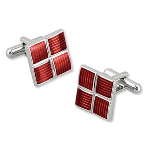 Silver Cufflinks - Addington Weave By Enrico Pardini Silver Metal Cufflinks