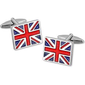 Union Jack Cufflinks - Union Jack By Umo Lorenzo Silver Metal Cufflinks