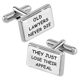 Cufflink - Old Lawyers By Necktie Accessories Silver Silver Plated Cufflinks