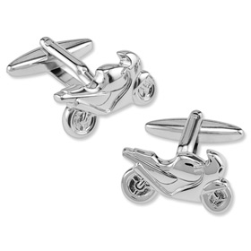 Cufflinks Motorcycles - Motorcycles By Enrico Pardini Silver Rhodium Cufflinks