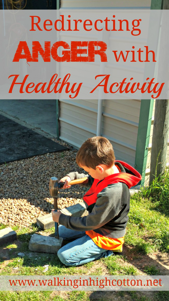 Redirecting Anger with Healthy Activity in children via Walking in High Cotton