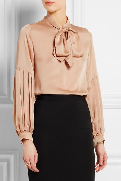 satin pussy bow blouse eBay